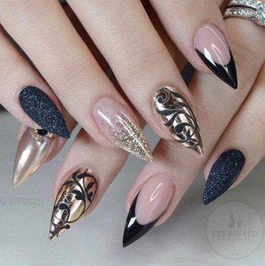 Best ideas Glitter Nail Art-14-24beautytutorial.com