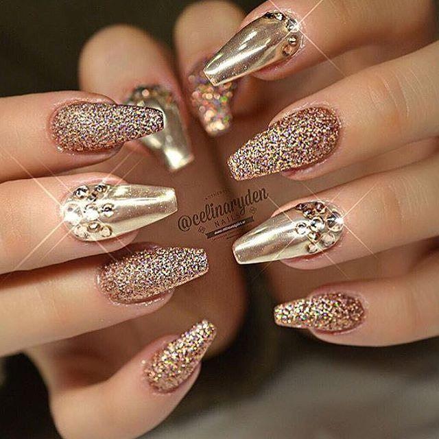 Best ideas Glitter Nail Art-3-24beautytutorial.com
